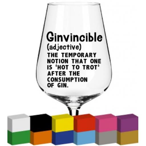 Ginvincible Glass / Mug / Cup Decal / Sticker / Graphic