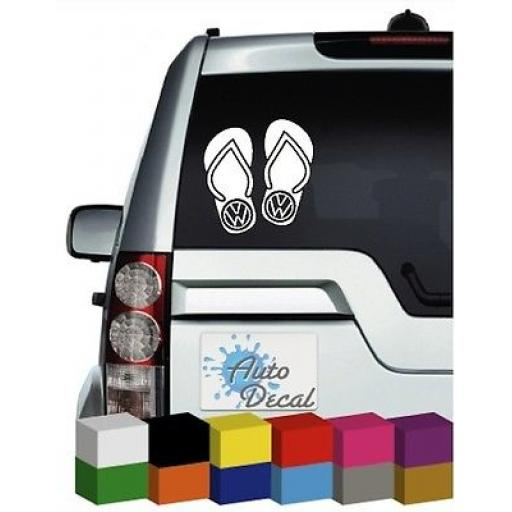 Flip Flop Volkswagen Vinyl Car, Van, 4x4 Decal / Sticker / Graphic