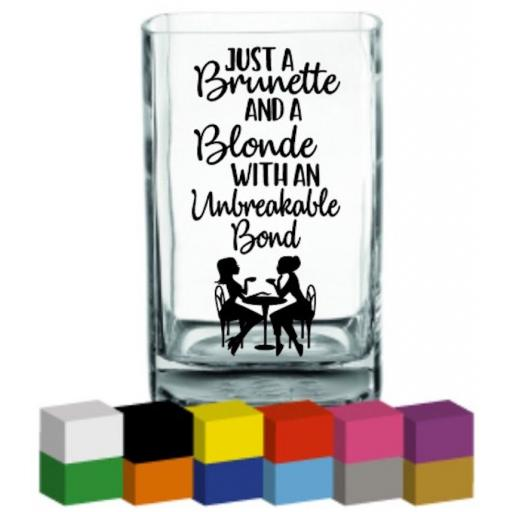 Just a brunette and a blonde Vase Decal / Sticker / Graphic