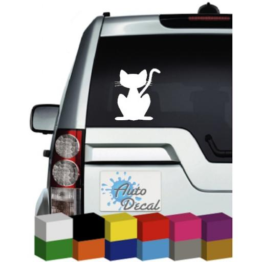 Cat Car Animal Vinyl Window, Bumper Decal / Sticker / Graphic