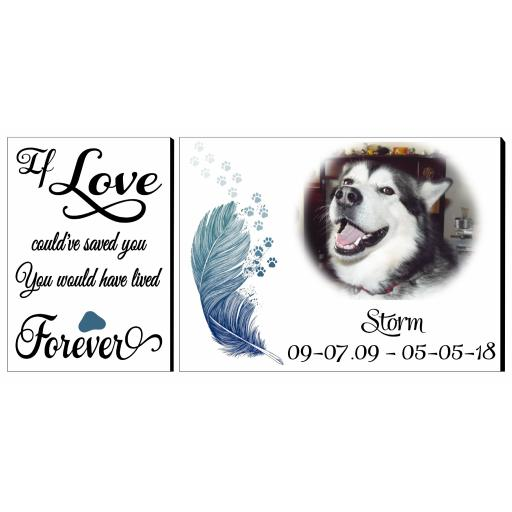 Pet Memorial Rectangular Display Panel