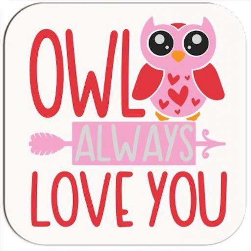 Owl always love you Coaster