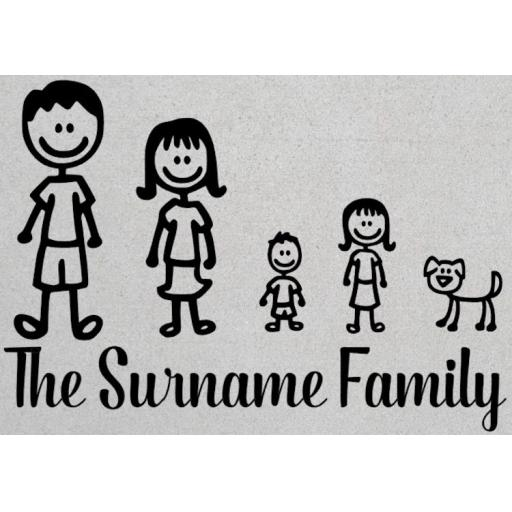 The Surname Family Personalised House Decal / Sticker / Graphic