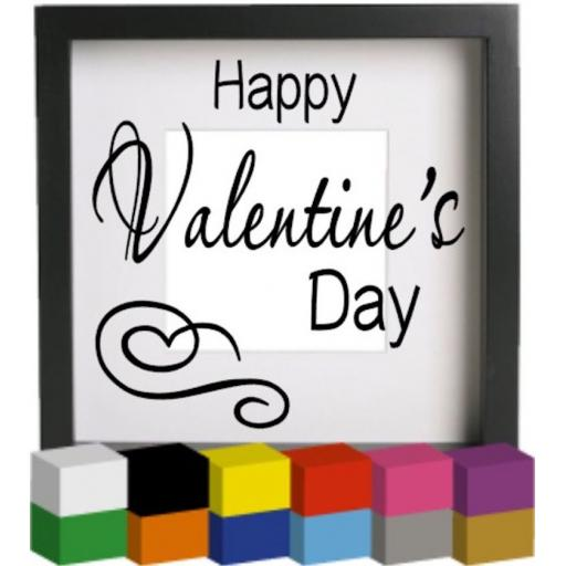 Happy Valentine's Day Vinyl Glass Block / Photo Frame Decal / Sticker / Graphic