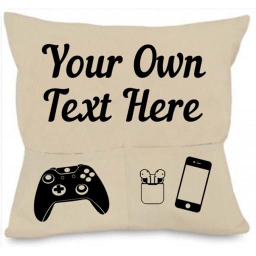 Customised Cushion Cover with Pockets Personalised