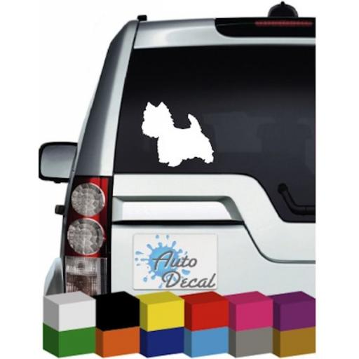 West Highland Terrier (Westie) Dog Vinyl Car Animal Decal / Sticker / Graphic