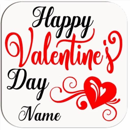 Happy Valentine's Day Coaster Personalised