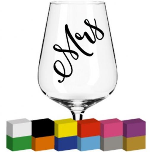 Mrs Champagne Glass / Mug / Cup Decal / Sticker / Graphic