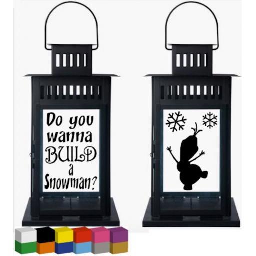Do you wanna build a snowman? Lantern Decal / Sticker / Graphic