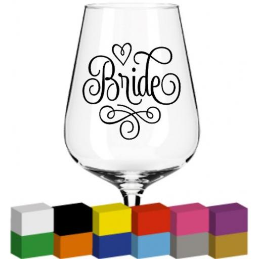 Bride word Glass / Mug / Cup Decal / Sticker / Graphic