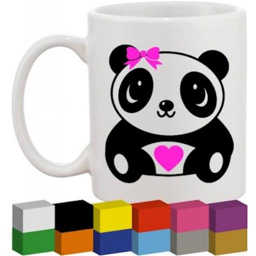 Panda Glass / Mug / Cup Decal / Sticker / Graphic