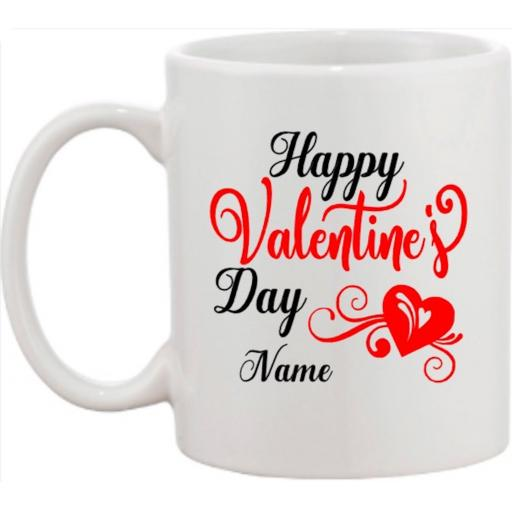 Happy Valentine's Day Mug Personalised
