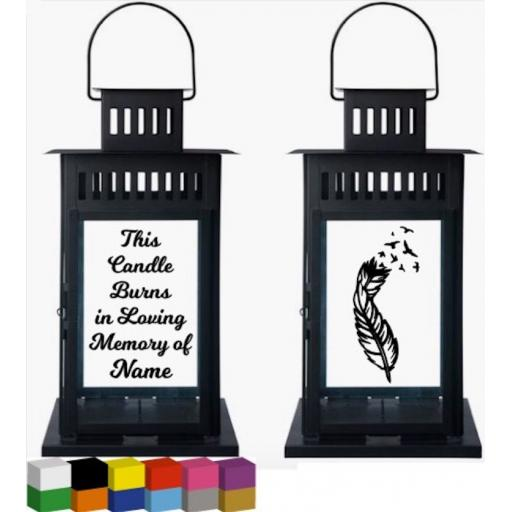 This Candle Burns in Loving Memory of Personalised Lantern Decal / Sticker / Graphic