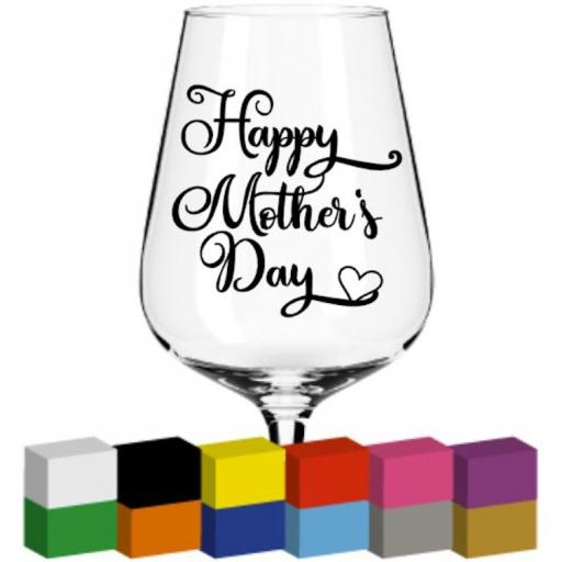 Happy Mother's Day V2 Glass / Mug / Cup Decal / Sticker / Graphic