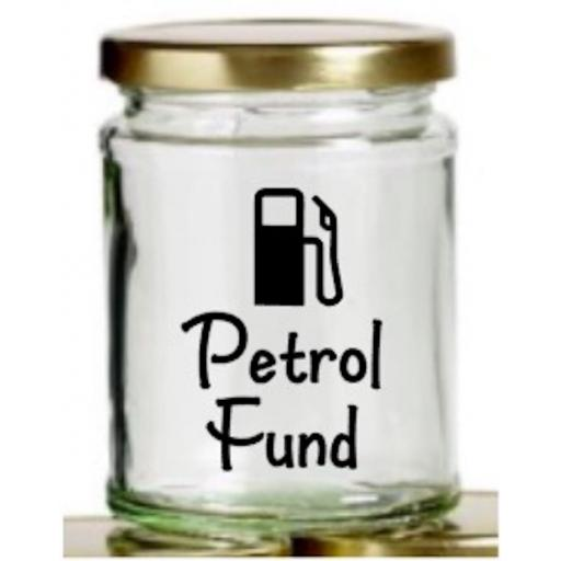 Petrol Fund Mason Jar Decal / Sticker / Graphic