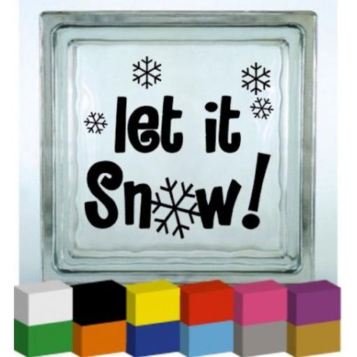 Let it Snow V2 Vinyl Glass Block / Photo Frame Decal / Sticker / Graphic