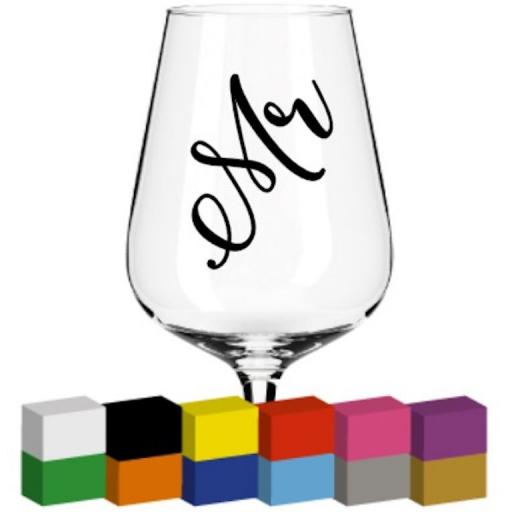 Mr Champagne Glass / Mug / Cup Decal / Sticker / Graphic
