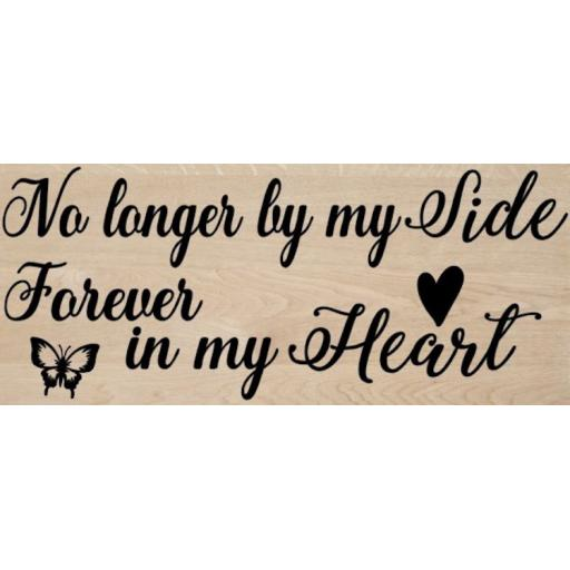 No longer by my side Wooden Block Decal / Sticker/ Graphic