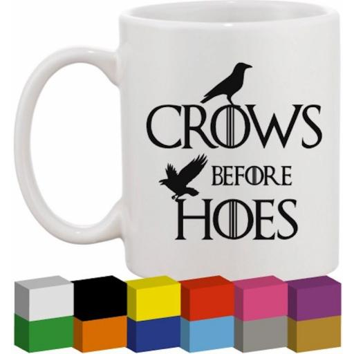 Crows before Hoes Glass / Mug / Cup Decal / Sticker / Graphic