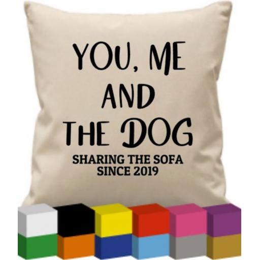 Cushion Cover with You, Me and the Dog
