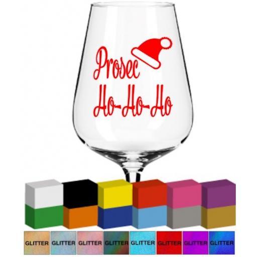 Prosec Ho-Ho-Ho Glass / Mug Decal / Sticker / Graphic