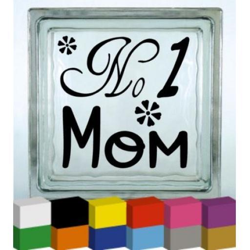 No 1 Mom Vinyl Glass Block / Photo Frame Decal / Sticker / Graphic
