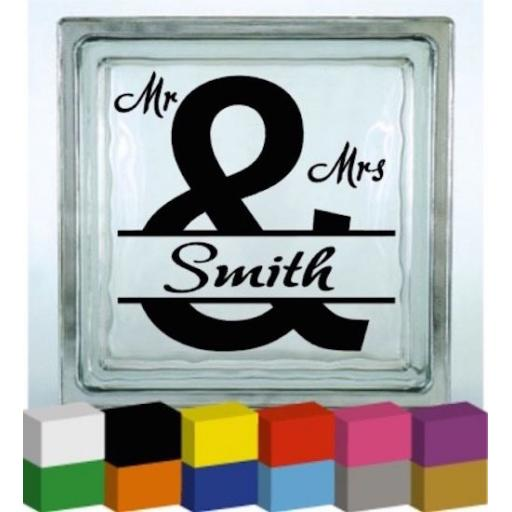 (Personalised) Wedding Day Surname Vinyl Glass Block / Photo Frame Decal / Sticker/ Graphic