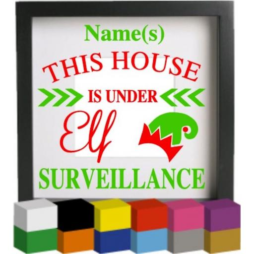 Personalised This house is under Vinyl Glass Block Decal / Sticker / Graphic