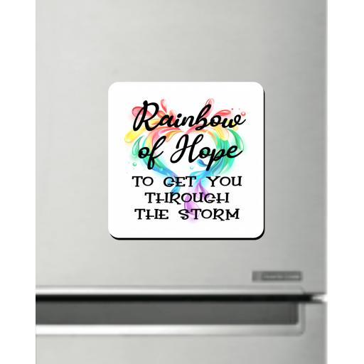 Rainbow of Hope V2 Fridge Magnet