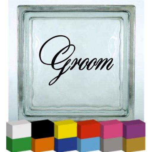 Groom Vinyl Glass Block / Photo Frame Decal / Sticker