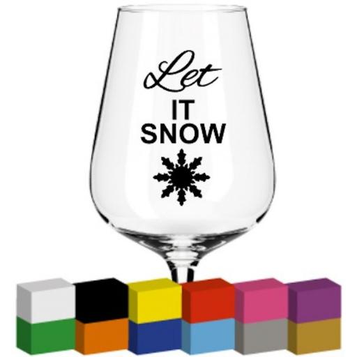 Let it Snow Glass / Mug / Cup Decal / Sticker / Graphic