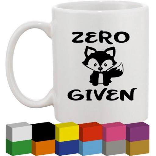 Zero Fox Given Glass / Mug / Cup Decal / Sticker / Graphic