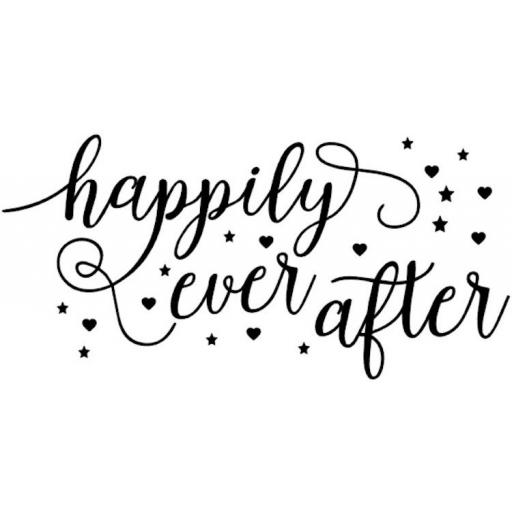 Happily Ever After Box Decal / Sticker/ Graphic