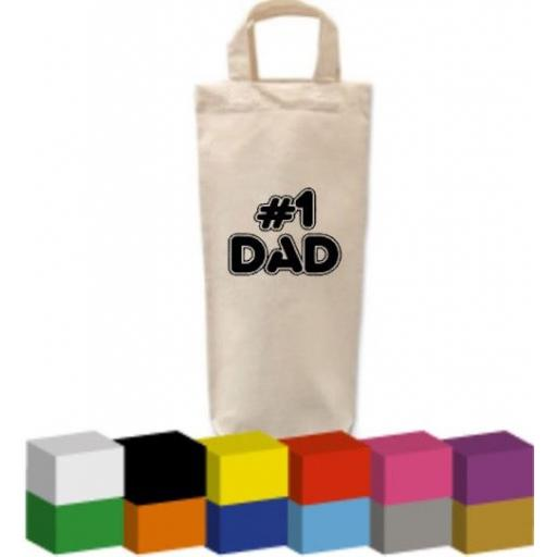 Bottle Bag with No 1 Dad