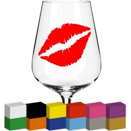Kiss Glass / Mug / Cup Decal / Sticker / Graphic