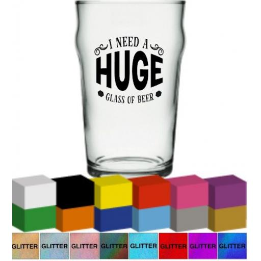 I need a huge glass of Beer Glass / Mug Decal / Sticker / Graphic