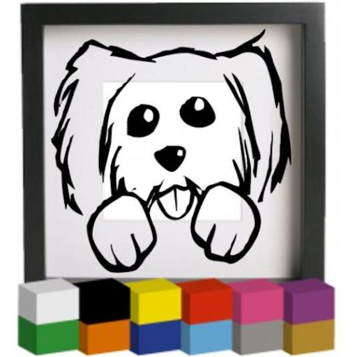 Dog Vinyl Glass Block / Photo Frame Decal / Sticker / Graphic