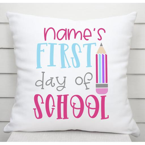 Personalised First day of School Cushion Cover