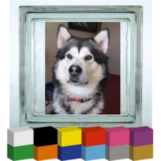 Bespoke Photo Vinyl Glass Block / Photo Frame Decal / Sticker/ Graphic