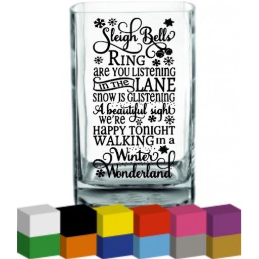 Sleigh Bells Ring Vase Decal / Sticker / Graphic