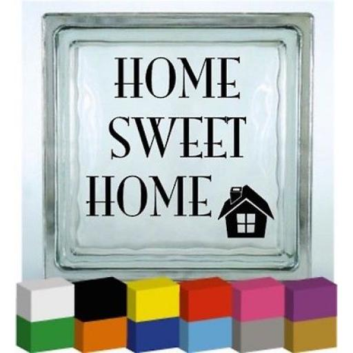 Home Sweet Home Vinyl Glass Block / Photo Frame Decal / Sticker/ Graphic