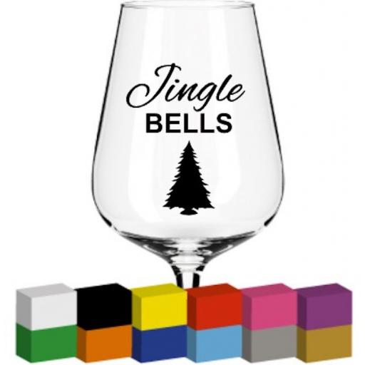 Jingle Bells Glass / Mug / Cup Decal / Sticker / Graphic