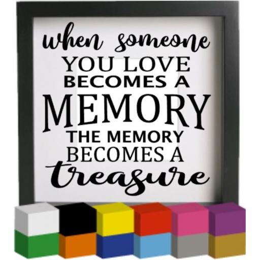 When someone you love v2 Vinyl Glass Block / Photo Frame Decal / Sticker / Graphic