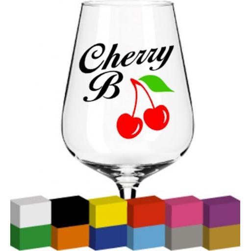 Cherry B Glass / Mug / Cup Decal / Sticker / Graphic