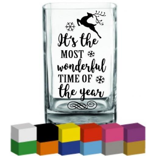 Its the most wonderful time of the year Vase Decal / Sticker / Graphic