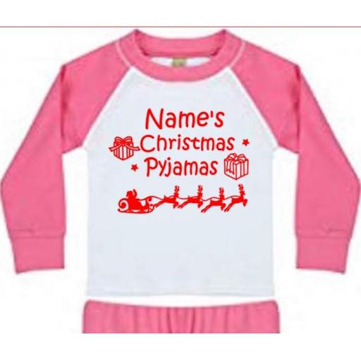 Christmas Pyjamas (Personalised) Heat Transfer Vinyl
