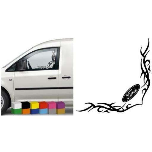 Ford Van/Car Side Window Stickers x 2 Decal / Graphic, Van, Lorry, Bus, Coach