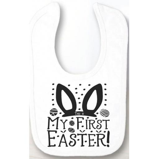 This is My First Easter Velcro Baby Bib