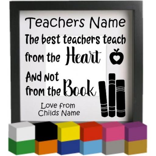 The Best Teachers teach Personalised Vinyl Glass Block / Photo Frame Decal / Sticker / Graphic