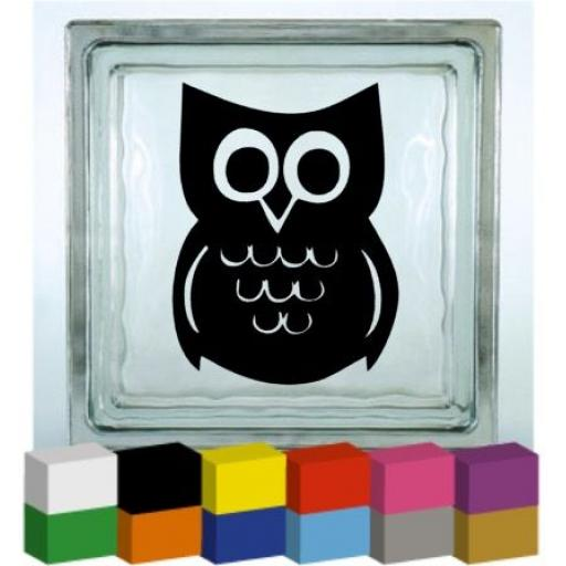 Owl Vinyl Glass Block / Photo Frame Decal / Sticker / Graphic